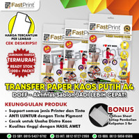 Fast Print Transfer Paper Kaos Putih A4 Doff