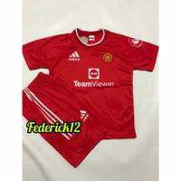 Stelan baju bola anak man.united home jersey terbaru - MU MERAH, 10