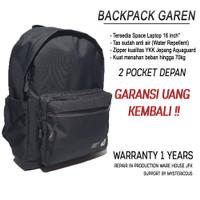 Tas Backpack Ransel Laptop Anti air By JFK - Garansi Resmi (Unisex) - Hitam