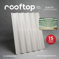 Atap Rooftop atap berongga bahan pvc tebal 12mm - Semi Transparant