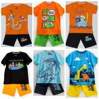 Setelan kaos baju anak laki laki size 1 2 3 4 5 6 7 8 9 10 tahun #7702