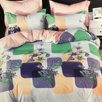 Bed Cover set Sprei 200x200 Katun Jepang Flower Patch