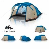 Quechua Tenda Camping Keluarga Arpenaz Tent 4.0|4 Orang 1 Ruangan