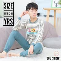 Baju Tidur Anak laki laki remaja - Piyama anak Remaja cewek - ZooStrip - 10 Yrs