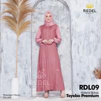 Baju Gamis Wanita Dewasa/Remaja Kekinian Toyobo Premium RDL09 - S