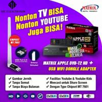 Reciever TV Set Top Box Matrix Apple DVB T2 Digital DVBT2 Antena Apple