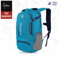 Tas Ransel Pria Backpack Travel Original ada Slot Laptop + Raincover