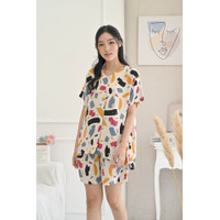 KELLY SET ( Piyama - Pajamas - Baju Tidur ) One Set Celana Pendek