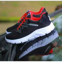 sepatu alphabounce - merah hitam, 39