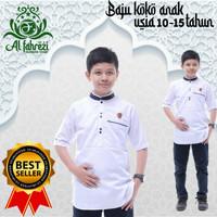 Baju koko anak / baju koko anak laki laki usia 10-15 tahun - Putih, 10-11 tahun