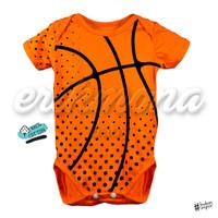 🏀baju bayi jumper bayi motif lucu bola basket basketball🏀 - S