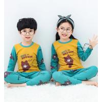 Piyama Anak Laki Laki Import Adem Katun Halus Size Big Seri Bear 2