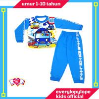 Kaos Setelan Baju Tidur Piyama Anak Laki Laki 1 - 10 Tahun Tayo