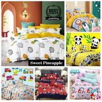 Vige Bedcover Set Katun Motif Buah Pineapple Size Single   Bad Cover