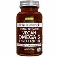 Vegan Omega 3 Plus Astaxanthin Algae Oil 1340 mg 60 Capsules Igennus