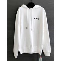 OFF WHITE Liquid Arrow Sweatshirt Hoodie White