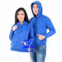 Hoodie Jumper Jaket Sweater Unisex (1) - Biru, L