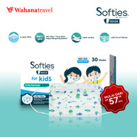 Softies Surgical Masker ANAK /KIDS ( 1 box isi 30 Sachets )