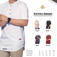 Baju Koko Lengan Pendek Kasual Bahan Katun Madinah Kemko (Size XL-XXL)