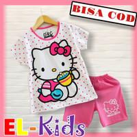 Baju Anak Perempuan/Setelan Anak Perempuan, D&C, Hello Kitty Polkadot