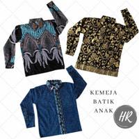 Baju batik anak laki-laki batik anak lengan panjang batik halus