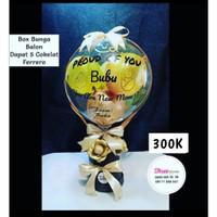 box bunga balon ucapan / hadiah lahiran / hadiah ucapan congratulation