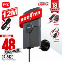 Antena TV PX DA-5120 Indoor/Outdoor Antena Digital Analog + Kabel 12M