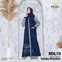 Baju Gamis Wanita Dewasa/Remaja Kekinian Toyobo Premium RDL10 - S