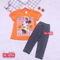 Setelan Mickey Mouse uk 2-6 Tahun / Baju Anak Karakter Kaos Legging