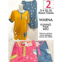 Babydoll 3/4 XL 2L Anne Claire Jumbo Lengan Pendek Celana Pendek