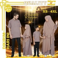 Baju Pesta Couple Keluarga Muslim Sarimbit Kondangan Seragam Pasangan - Koko ayah, M