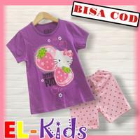 Baju Anak Perempuan/Setelan Anak Perempuan, D&C, Hello Kitty Strawbery