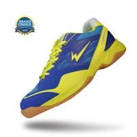 Sepatu Eagle Caliber Biru/Kuning - Badminton Shoes