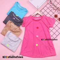 Dress Tasya uk Bayi-5 Tahun /Tunik Lengan Pendek Baju Anak Perempuan