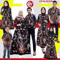 Set Batik Keluarga / Couple Keluarga Motif Bunga Cendrawasih