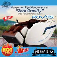 Kursi Pijat Electric COMFY ROVOS R311 Coffee warna Beige/Coffee Black