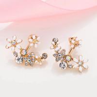 anting anting giwang wanita earring korea kRISTAL FLOWER DOUBLE