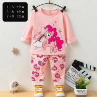 Piyama import / Baju tidur anak perempuan unicorn umur 1 - 10 tahun.