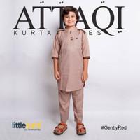 Baju Koko Muslim Anak Laki-laki 1 Set ATTAQI GENTLY RED - Merah, S