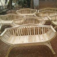 kursi teras yuyu/bangku yuyu sandaran/kursi minimalis kayu jati