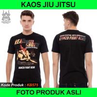 Kaos JiuJitsu Never Surender, T shirt Jujitsu, Baju Jujutsu KB205