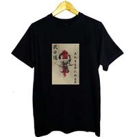 Kaos Distro T-shirt Combed 30s Anime Jepang Bushido Samurai - L