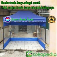 Dinding/Tirai Tenda Lipat 3x2 Bahan Mika Transparan Dan Polister Tebal