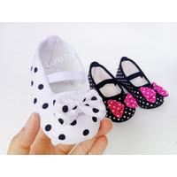 Sepatu Bayi Balet Polkadot