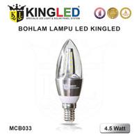 LED CANDLE LIGHT / LAMPU HIAS 4.5W E14 & E27 WARNA PUTIH