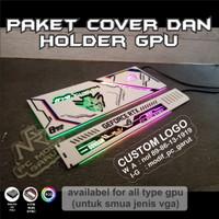 PAKET AKSESORIS PC GAMING COVER VGA DAN HOLDER GUNDAM EDITION