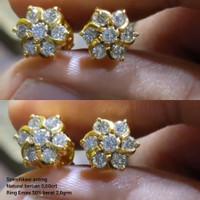 (1129)mw Anting Original ring Emas full berlian 0,60crt