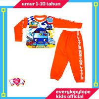 Kaos Setelan Piyama Baju Tidur Anak Laki Laki 1 - 10 Tahun Tayo Bus