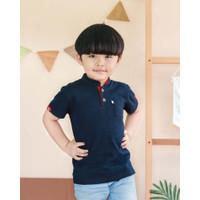 Lily And Clark Baju Kemeja Anak Koko Anak Laki-Laki Warna Navy KS06 - NO 2