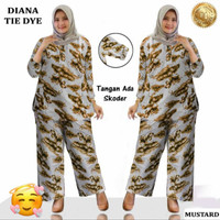 Baju Setelan Wanita Muslim Big Size Jumbo SET DIANA Tie Dye Baju Lebar